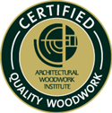 Certified by Architectural Wookwork Institute